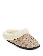 Cable-Knit Clog Slippers