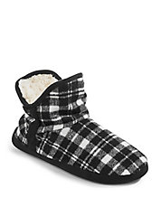 Plaid Bootie Slippers