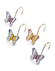 12-Piece Butterfly Meadow Shower Curtain Hook Set