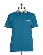 Chambray Collared Polo