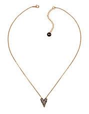 Ikonik Crystal Pyramid Heart Pendant Necklace