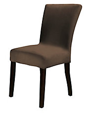 Harlow Suede Crimson 1-Piece Stretch Dining Chair Slipcover
