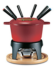 Sierra 11pc Cast Iron Fondue Set