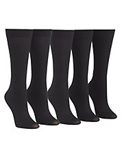 5pk pattern knee high trouser sock