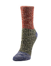 Colourblock Twist Boot Crew Socks
