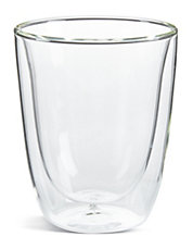 Set of Two Short Double Wall Glasses