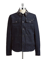 Fleece-Lined Denim Button Up
