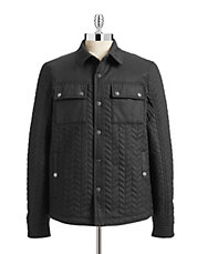 Quilted Herringbone Jacket
