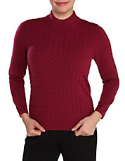 Plus Knitted Mock Neck Sweater