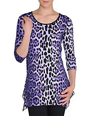 Leopard Print Jersey Tunic Top