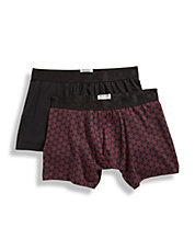 Two Pack Check It Out Fitted Boxers