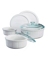 French White 7 Piece Casserole Set