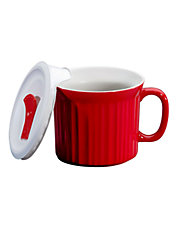 Colours Pop Ins 20 Ounce Mug with Lid in Tomato