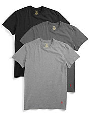3-Pack Cotton Crew Neck T-Shirts