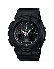 Military Black Analogue and Digital Combo Watch