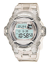Women's Baby G Pink Clear Silver Watch
