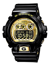 G-Shock XL 6900 Gloss Black and Gold