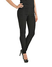 Stretch Bengaline Ruched Legging
