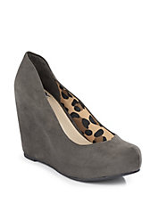 Dina Faux-Suede Wedges