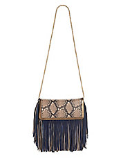 Fringed Suede Leather Clutch