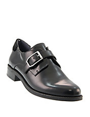 Buckled Strap Leather Shoes