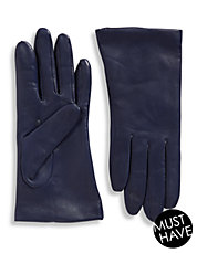 Cashmere-Lined 9' Leather Gloves