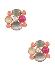Mixed Blossom Stud Earrings