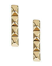 Pyramid Bar Stud Earrings
