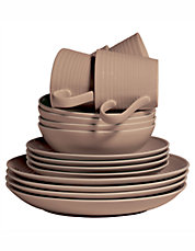 Maze Taupe Dinnerware Collection