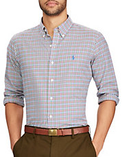 Standard-Fit Cotton Casual Button-Down Shirt