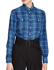 Relaxed Plaid Twill Cotton Button-Down Workshirt