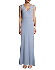 Cutout Strap Jersey Gown