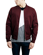 Burgundy Cotton Bomber Jacket