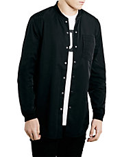 Black Long Sleeve Shirt Bomber