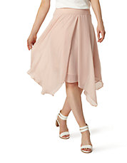 Sheer Curved-Hem Skirt