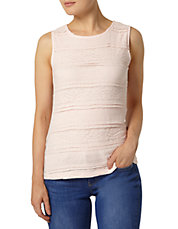 Lace Front Jersey Tank Top