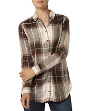 Longline Checked Button-Up Shirt