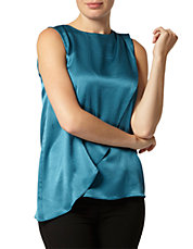 Luxe Turquoise Asymmetric Top