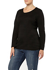 Plus Long Sleeve Basic T-Shirt