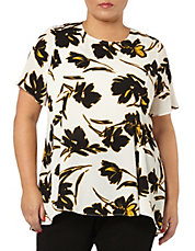 Plus Printed Pebble Textured Top