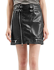 Mini Leather Biker Skirt