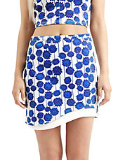 Wave Hem Mini Skirt