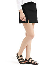 Notch Hem Mini Skirt