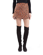 Furry Leopard A-Line Skirt
