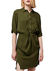 Twist Front Shirt Dress