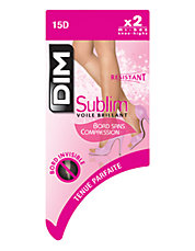 2 Pack Sublim Glossy Sheer Knee High 15D