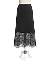 Flared Long Lace Skirt