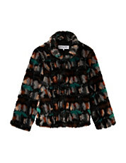 Faux Fur Camouflage Coat