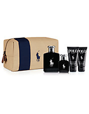 Polo Black Dopp Kit Set