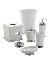 essence ceramic bath collection - White Bathroom Accessories Ceramic